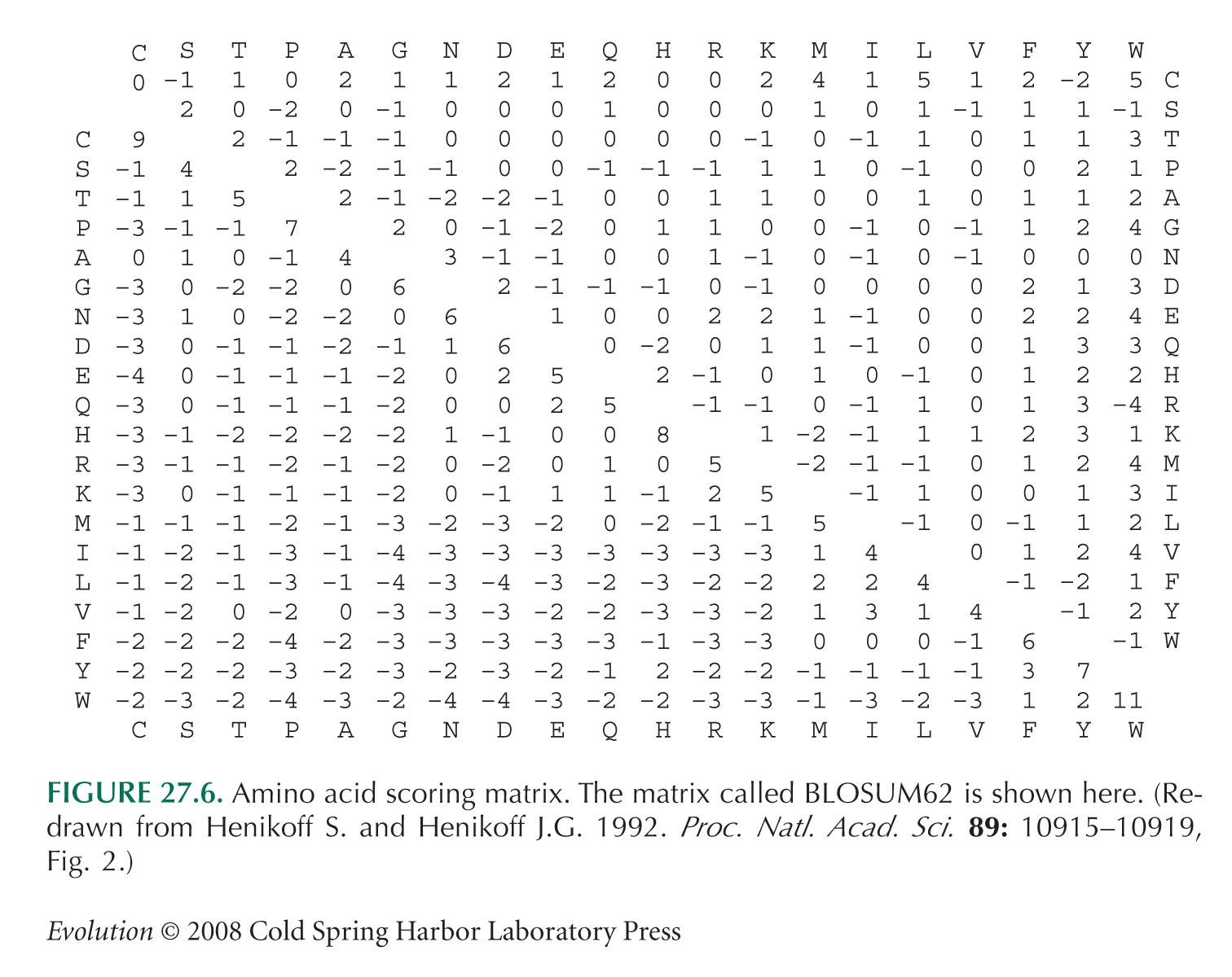 Selecting the Right Similarity-Scoring Matrix